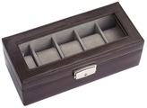 Royce Leather Luxury 5-Watch Display Case