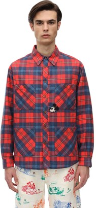 Gucci CHECK COTTON OVER SHIRT W/ PATCH