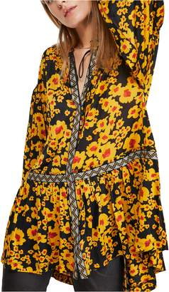 Free People Love Letter Floral Print Tunic