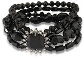 Carolee Gotham Hematite-Tone Beaded Multi-Row Bracelet