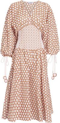 My Beachy Side Cotton Eyelet Corset Dress