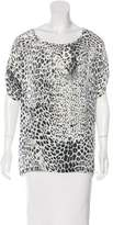 Pierre Balmain Silk Leopard Print Top