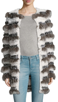 Adrienne Landau Fox and Rabbit Fur Coat