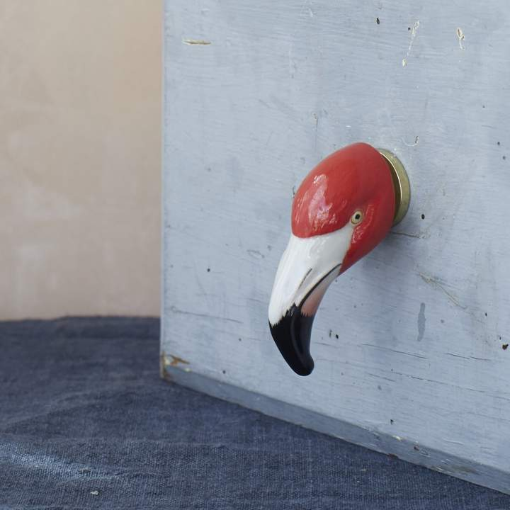 Graham and Green Flamingo Door Knob