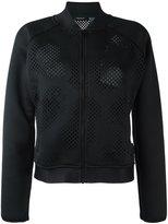 Reebok perforated detailing jacket - women - Polyester/Spandex/Elastane - S
