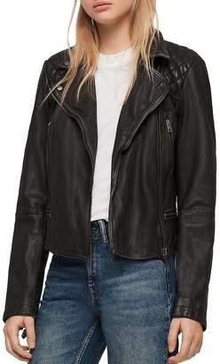 AllSaints Cargo Quilted Leather Biker Jacket