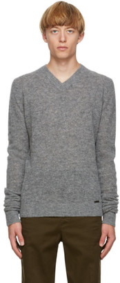 DSQUARED2 Grey Alpaca Knit Sweater