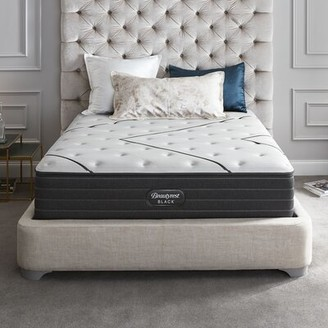"Simmons Black 14"" Medium Innerspring Mattress and Box Spring Mattress Size: Queen, Box Spring Height: Low Profile (5"")"