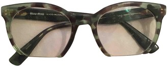 Miu Miu Green Plastic Sunglasses