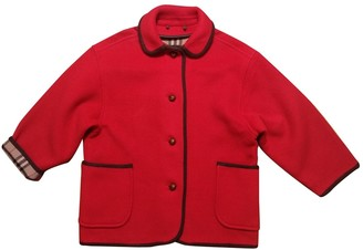 Burberry Red Wool Coats