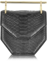M2Malletier Mini Amor Fati Black Python and Leather Crossbody Bag