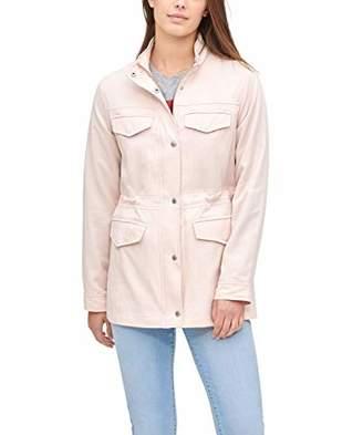 Levi's Women's Stand Collar Cotton Tencel 4-Pocket Military Jacket