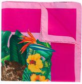 Kiton jungle print pocket square - men - Silk - One Size