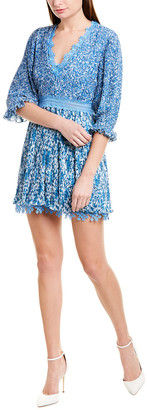 Alice + Olivia Jonna Pleated Mini Dress