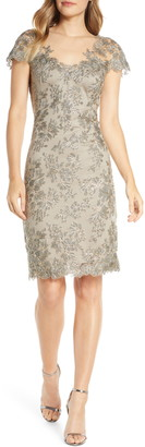 Tadashi Shoji Corded Lace Sheath Dress