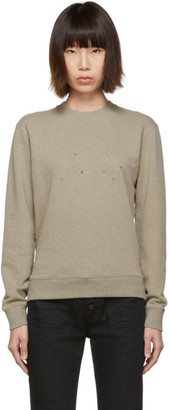 Saint Laurent Taupe Stars Sweatshirt