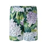 Dolce & Gabbana Dolce & GabbanaGirls Green Hydrangea Print Shorts