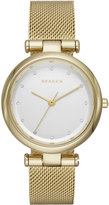 Skagen Women's Tanja Gold-Tone Stainless Steel Mesh Bracelet Watch 30mm SKW2486