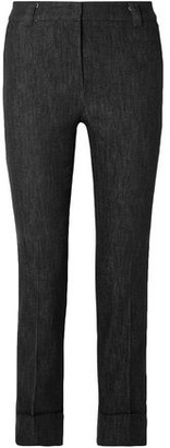 Akris Cropped Mid-rise Straight-leg Jeans