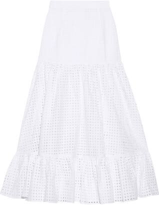 Paper London Marianne Broderie Anglaise Cotton Maxi Skirt