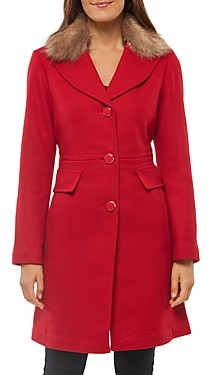 Kate Spade Faux Fur Collar Coat