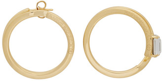 MM6 MAISON MARGIELA Gold Small Hoop Earrings