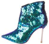 Sophia Webster Sequin Pointed-Toe Ankle Boots