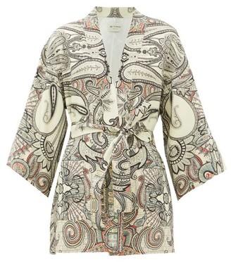 Etro Dalia Paisley-print Wool-blend Jacket - White Black