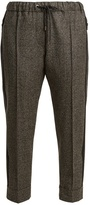 Brunello Cucinelli Hound's-tooth checked virgin-wool trousers