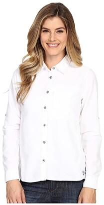 Mountain Hardwear Canyontm Long Sleeve Shirt (White) Women's Long Sleeve Button Up
