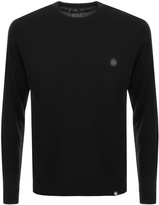 Pretty Green Hinchcliffe Crew Neck Jumper Black