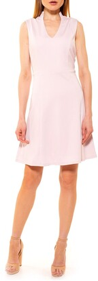 Alexia Admor Adelyn V-Neck Fit & Flare Dress