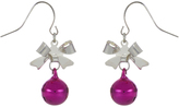 Accessorize Bow & Bell Short Drop Earrings