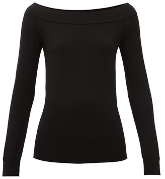 Dolce & Gabbana Off-the-shoulder Stretch-scuba Top - Black