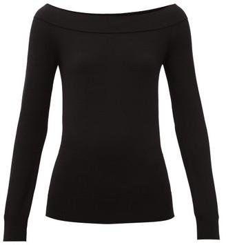 Dolce & Gabbana Off-the-shoulder Stretch-scuba Top - Womens - Black