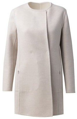 Akris Reversible Wool & Silk Car Coat