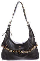 Burberry Embellished Leather Hobo