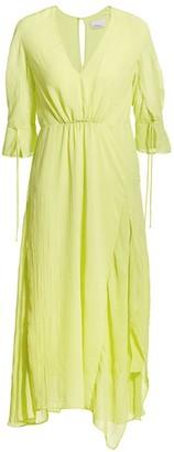 3.1 Phillip Lim Elbow-Sleeve Midi Flare Dress