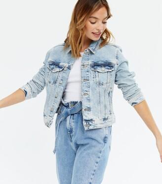 New Look Petite Bleach Wash Denim Jacket
