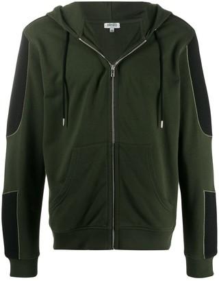 Kenzo dual-fabric zipped hoodie