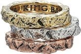 King Baby Studio Men's Temple Ruin Multicolored Tri Stack Ring Ring