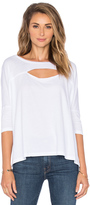 Bobi Lightweight Jersey Cut Out Dolman Tee