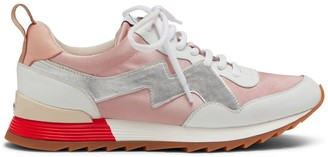 Mulberry MY-1 Lace-up Sneaker Pink and Silver Satin