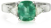 Forzieri Emerald and Diamond White Gold Ring