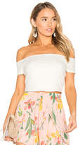 Privacy Please x REVOLVE Macy Crop Top in Ivory. - size M (also in S,XL,XS)