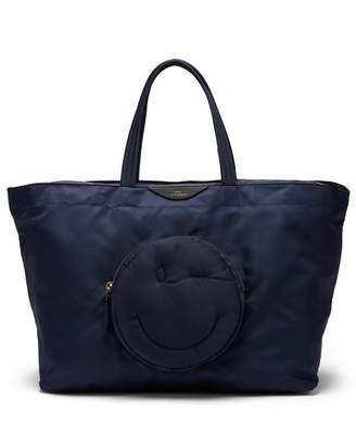 Anya Hindmarch Chubby Wink Nylon Tote Bag - Womens - Blue