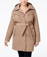 MICHAEL Michael Kors Size Hooded Water-Resistant Quilted Jacket
