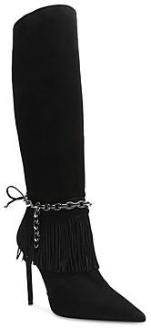Schutz Women's Vickie Fringe High Heel Boots