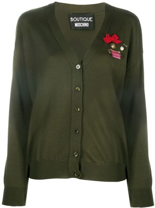 Boutique Moschino Bow Applique Cardigan