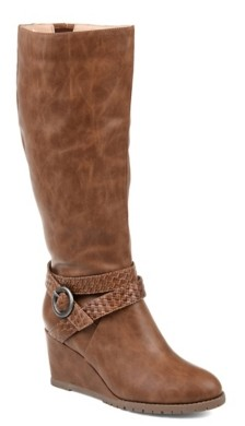 Journee Collection Garin Wide Calf Wedge Boot